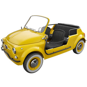 3D fiat 500 jolly icon-e model