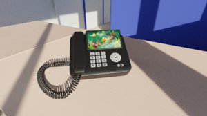 3D model phone office