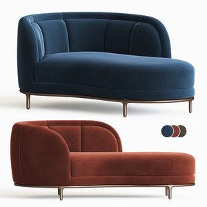 vuelta chaise lounge wittmann 3D model