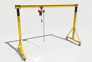 industrial crane pbr 3D model