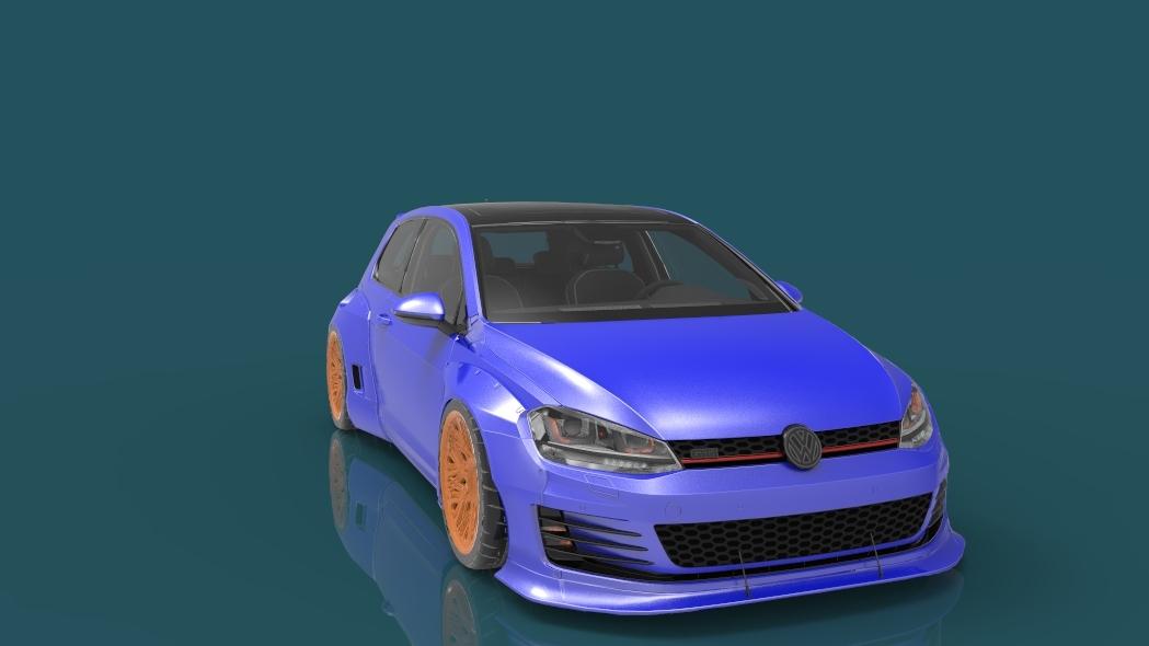 golf gti pandem 3D