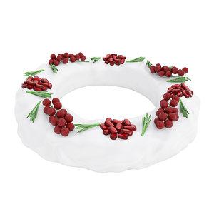 cake currant pomegranate 3D model