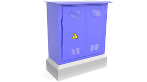 3D electrical cabinet cabin model
