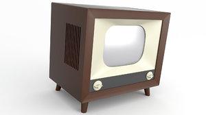 3D model tv old retro