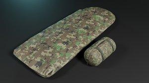3D sleeping bags color model
