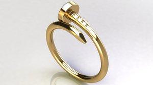 3D model nail ring mm 16