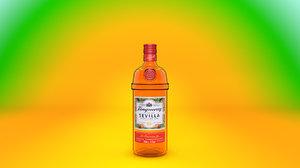3D model tanqueray - sevilla gin