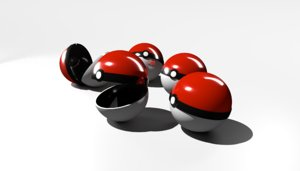 pokeball ball 3D model