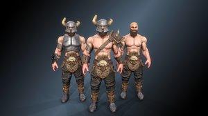 3D warrior axe model
