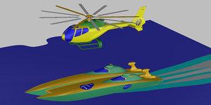 helicopter speedboat model