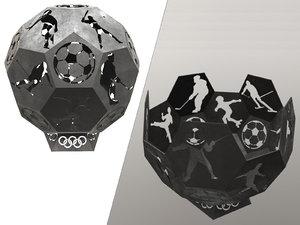 hearth fireplace sport 3D model