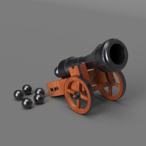 mini cannon 3D