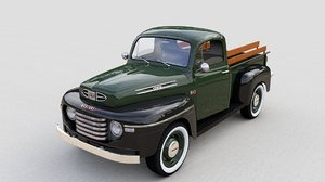 mercury m47 pickup truck 3D model