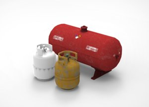 propane gas tanks containers 3D model