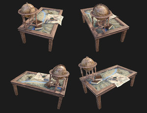 3D geographic table war
