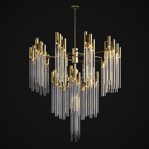 3D burj chandelier luxxu model