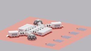 martian base mars city 3D