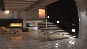 stairs room 3D