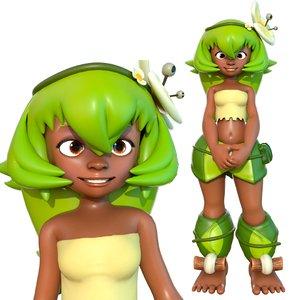 amalia wakfu character 3D model