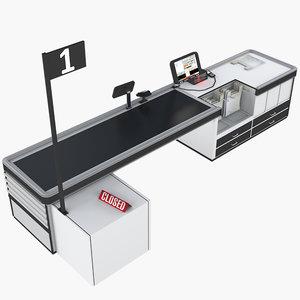 cash cashier 3D model