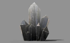 3D crystal low-poly