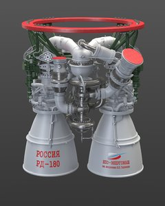 rocket engine rd-180 3D model