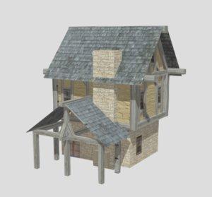 medieval blacksmith house 3D model