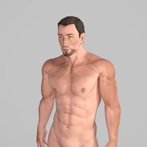 3D model man character rigged
