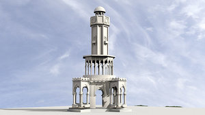 3D izmir clock tower model