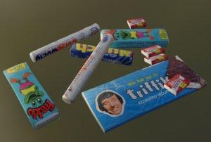 bubble 80s sweet 3D model
