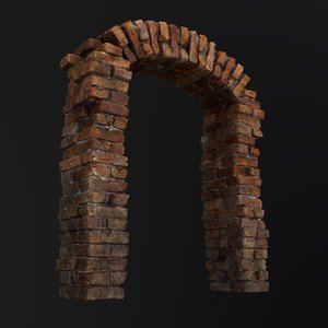 3D old brick arch