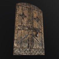 Old Medieval Door Low-poly 3D model