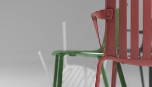 3D model chair jasper morrison magis