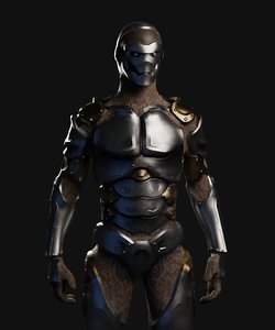 warforged character dungeons dragons 3D model