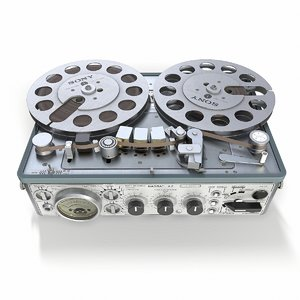 3D model analogue tape recorder