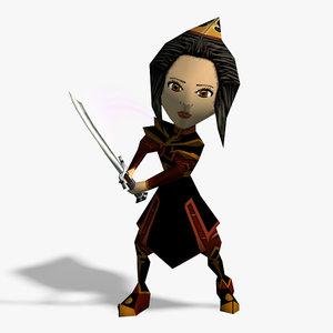 3D rigged sword