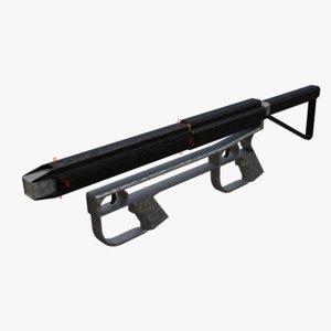 concept particle rifle gun 3D model