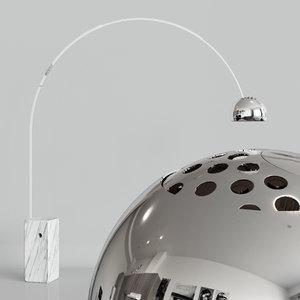 arco floor lamp 3D model