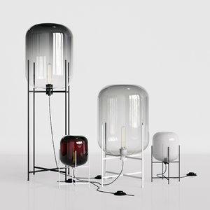 3D oda pulpo lamp set