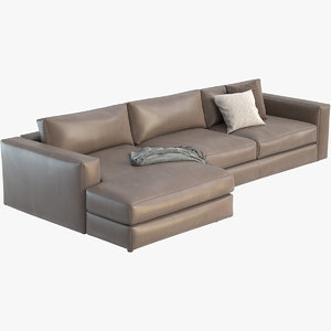 3D reid sectional chaise model