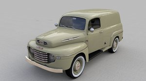 3D model mercury m47 panel van