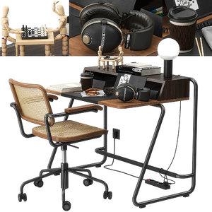 thonet s1200 desk set 3D model