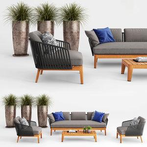 3D tribu mood sofa club chair model
