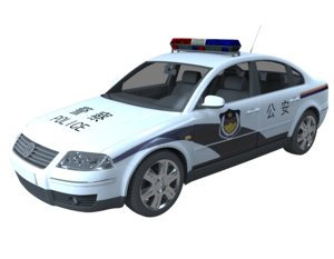 chinese police car 3D model