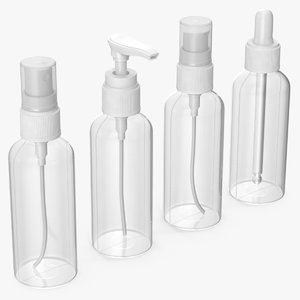 cosmetic bottles 100 ml 3D