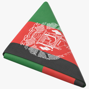 flag folded triangle afghanistan 3D model