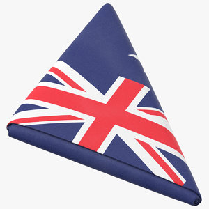 flag folded triangle australia 3D model