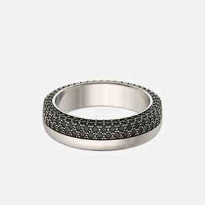 wedding ring diamonds 3D model