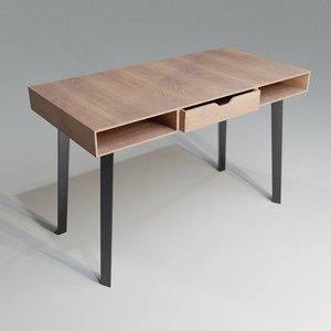 3D desk wood modern model