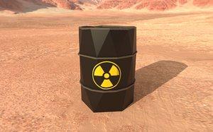 black barrel 3D model
